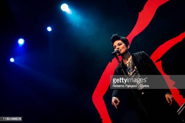 Giordana Angi Performs on October 11, 2019 in Rome, Italy.