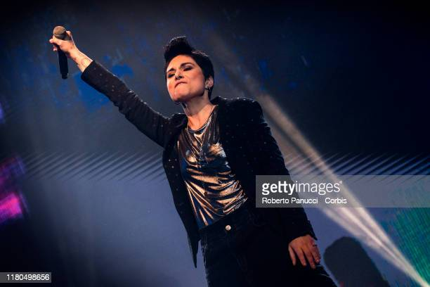 Giordana Angi Performs on October 11 2019 in Rome Italy