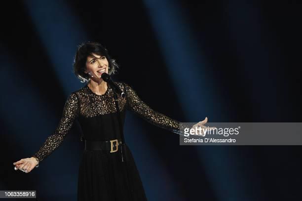 Giorgia attends Che Tempo Che Fa tv show at Rai Milan Studios on November 18 2018 in Milan Italy