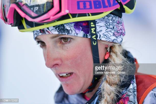 Giorgia Felicetti looks on during the Italian Youth Ski Mountaineering Championships on January 10, 2021 in Vermiglio