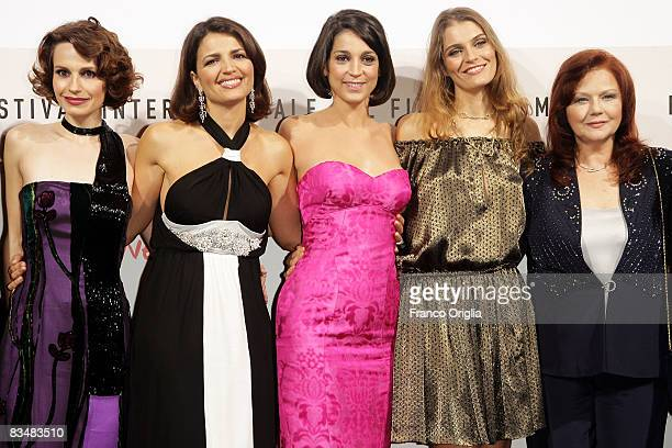 Giorgia Ferrero Tosca D'Aquino Donatella Finocchiaro Claudia Zanella and Agostina Belli attend the 'Amoure Che Vieni Amore Che Vai' Premiere during...