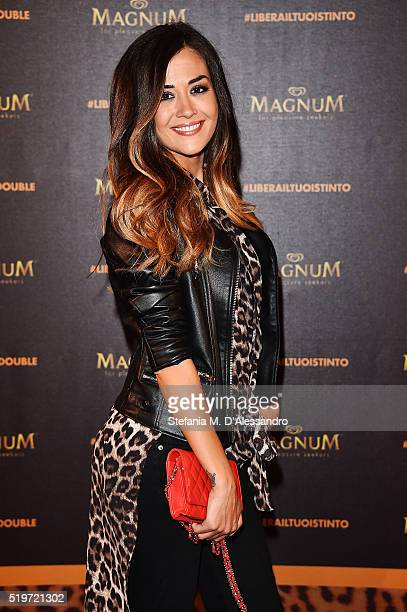 Giorgia Palmas attends 'Libera Il Tuo Istinto' Party by Magnum on April 7 2016 in Milan Italy
