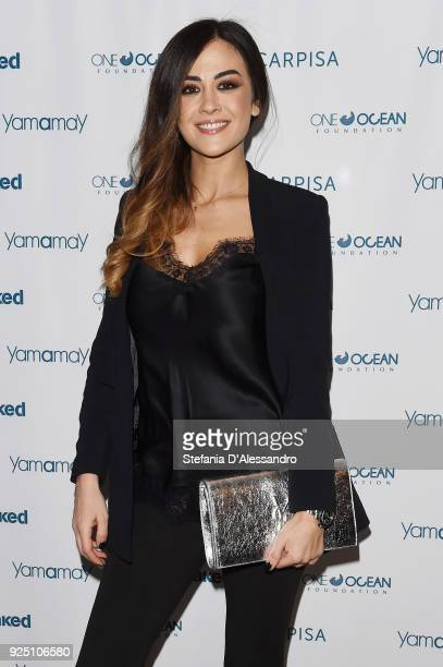 Giorgia Palmas attends One Ocean Foundation event on February 27 2018 in Milan Italy