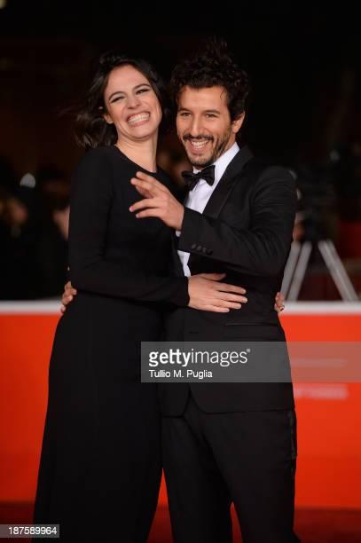 Giorgia Sinicorni and Francesco Scianna attend 'Come Il Vento' Premiere during The 8th Rome Film Festival at Auditorium Parco Della Musica on...