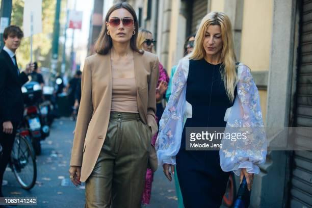 Giorgia Tordini Ada Kokosar after the Marni show during Milan Fashion Week Spring/Summer 2019 on September 23 2018 in Milan Italy