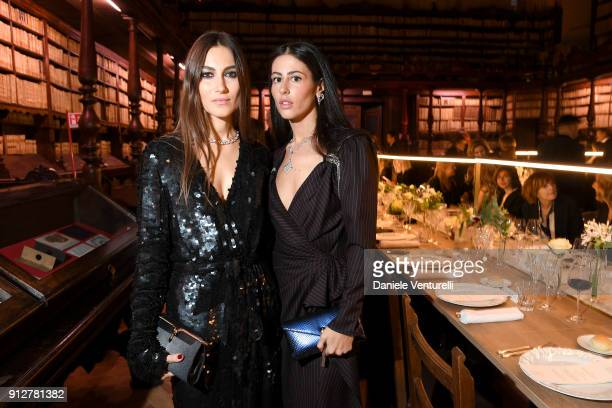 Giorgia Tordini and Gilda Ambrosio attend New Curiosity Shop on January 31 2018 in Rome Italy
