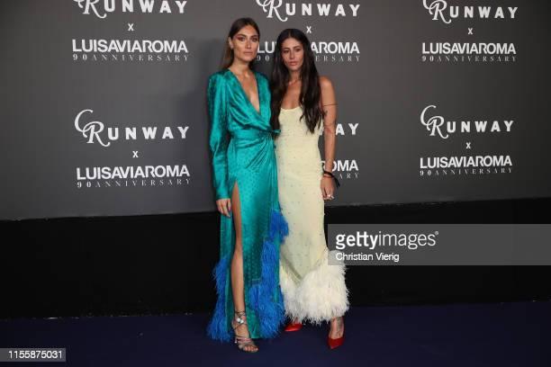 Giorgia Tordini and Gilda Ambrosio attends the CR Runway x LuisaViaRoma Event during Pitti Immagine Uomo 96 on June 13 2019 in Florence Italy