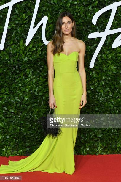 Giorgia Tordini arrives at The Fashion Awards 2019 held at Royal Albert Hall on December 02 2019 in London England