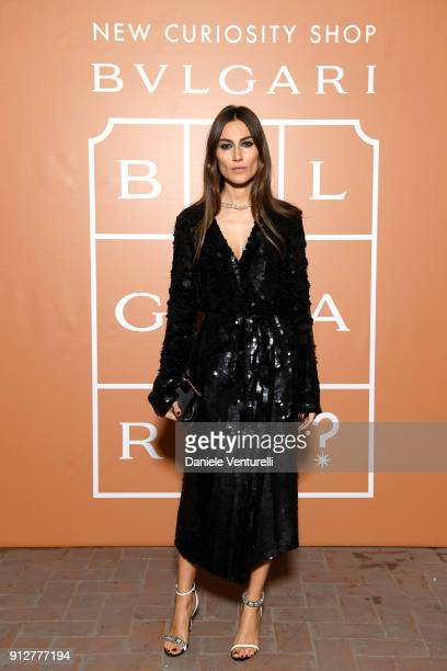 Giorgia Tordini attends New Curiosity Shop on January 31 2018 in Rome Italy