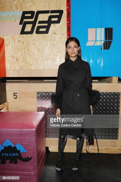 Giorgia Tordini attends Prada F/W 18 Men's Fashion Show on January 14 2018 in Milan Italy