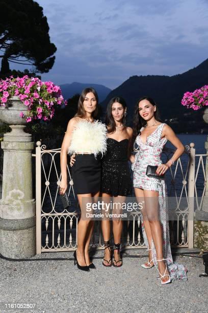Giorgia Tordini Gilda Ambrosio and Evangelie Smyrniotaki attend Bvlgari Splendida Tubereuse Mystique Event on July 09 2019 in Cernobbio Como Lake...
