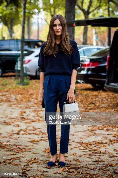 Giorgia Tordini is seen before the Rochas show at the Pavillion Ledoyen during Paris Fashion week Womenswear SS18 on September 27 2017 in Paris France