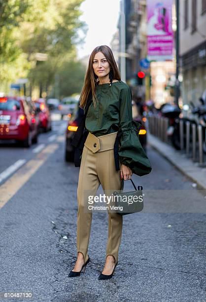 Giorgia Tordini outside Marni during Milan Fashion Week Spring/Summer 2017 on September 25 2016 in Milan Italy