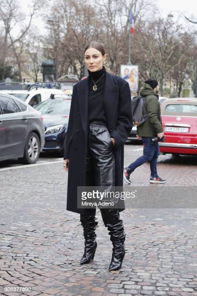 Giorgia Tordini seen during Paris Fashion Week Womenswear Fall/Winter 2018/2019 on March 2 2018 in Paris France