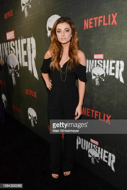 Giorgia Whigham attends Marvel's The Punisher Los Angeles Premiere at ArcLight Hollywood on January 14 2019 in Hollywood California