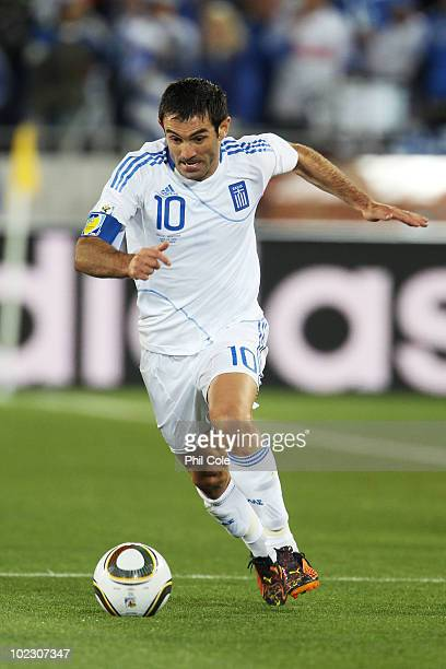 Giorgias Karagounis of Greece during the 2010 FIFA World Cup South Africa Group B match between Greece and Argentina at Peter Mokaba Stadium on June...