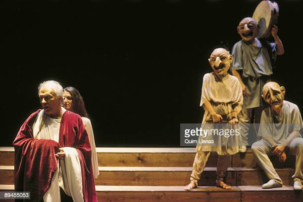 Giorgio Albertazzi actor During a performance of Marguerite Yourcenar´s 'Memories of Hadrian' play directed by Maurizio Scaparro