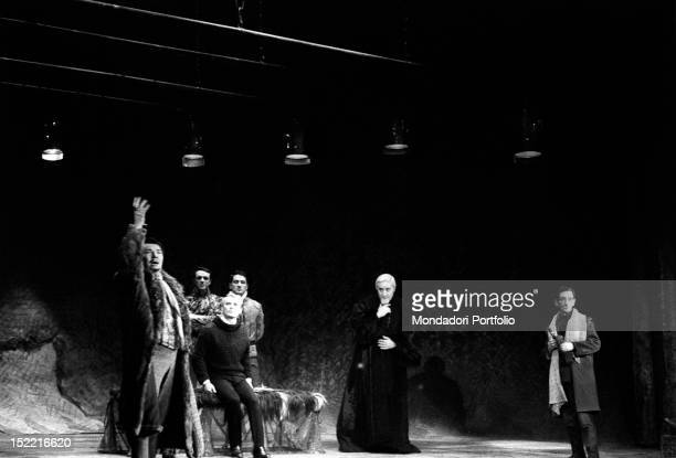 Giorgio Albertazzi in a scene from 'Hamlet' by William Shakespeare directed by Franco Zeffirelli Rome Eliseo theatre from 4th december 1963 to 4th...