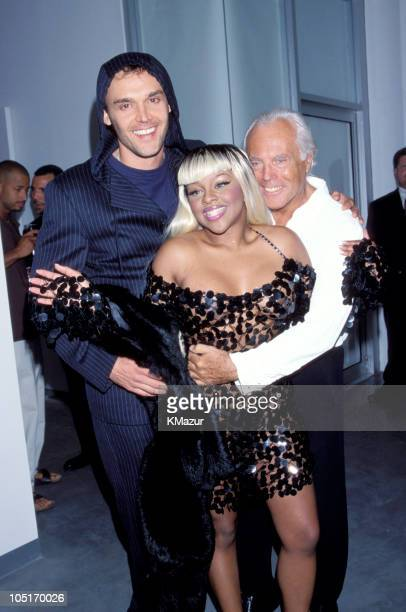 Giorgio Aramani Lil' Kim and David LaChapelle during Nabco Benefit Party at City Center in New York City New York United States