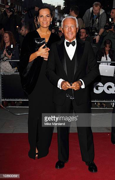 Giorgio Armani and Roberta Armani attend 'GQ Men of the Year Awards' at The Royal Opera House on September 7 2010 in London England