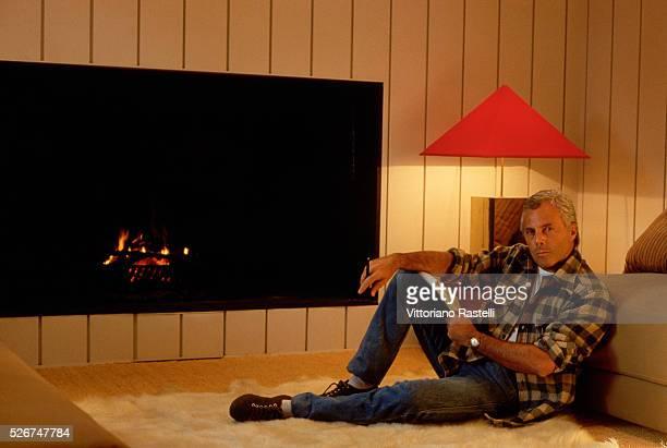 Giorgio Armani at his home in Milan.