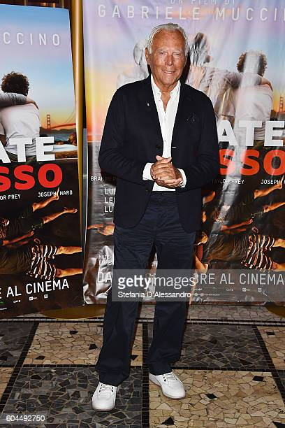 Giorgio Armani attends a photocall for 'L'Estate Addosso Summertime' on September 13 2016 in Milan Italy