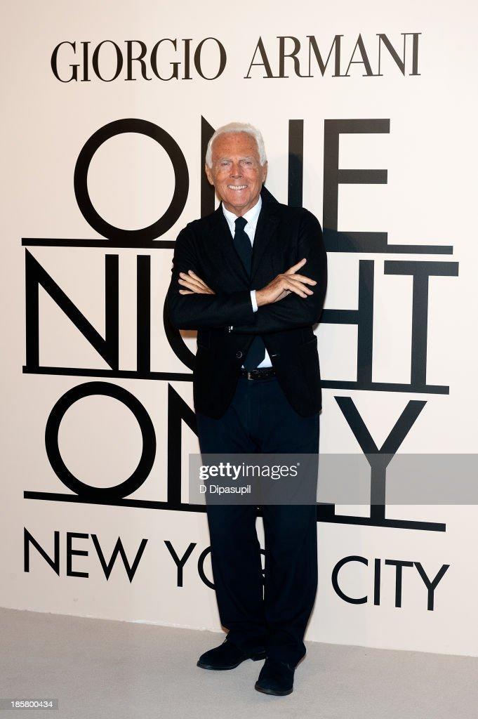 Giorgio Armani attends Armani - One Night Only New York at SuperPier on October 24, 2013 in New York City.