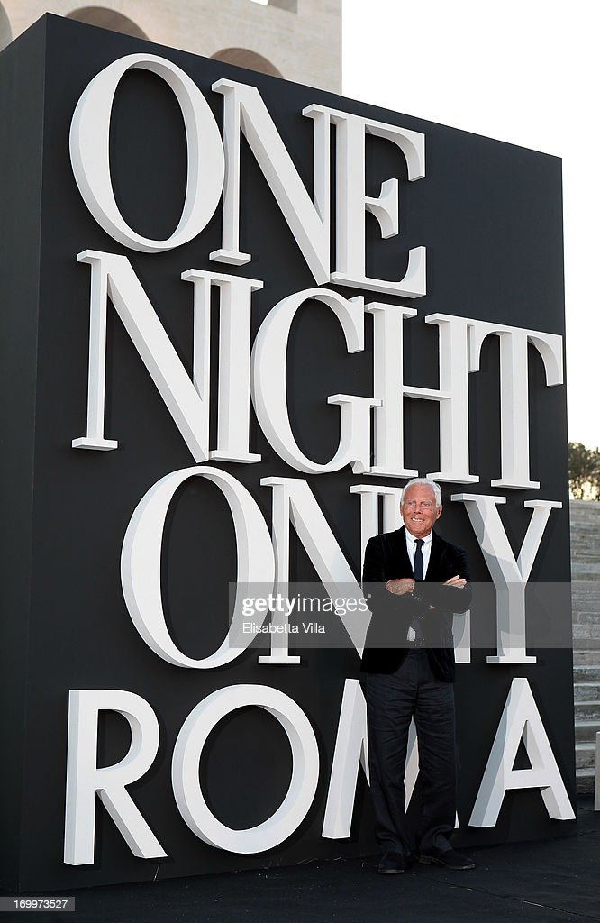 Giorgio Armani attends 'One Night Only' Roma hosted by Giorgio Armani at Palazzo Civilta Italiana on June 5, 2013 in Rome, Italy.