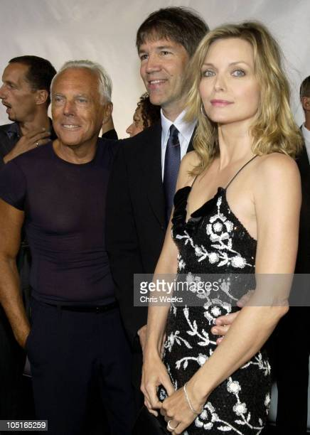 Giorgio Armani David E Kelley and Michelle Pfeiffer