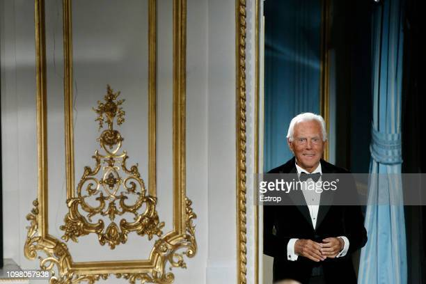 Giorgio Armani during the Giorgio Armani Prive Spring Summer 2019 show as part of Paris Fashion Week on January 22, 2019 in Paris, France.