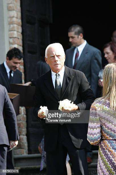 Giorgio Armani during The Wedding of Alexia Aquilani and Andrea Camerana October 9 2005 at Castello di Rivalta in Castello di Rivalta Piacenza Italy