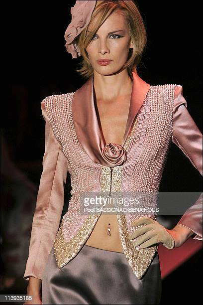 Giorgio Armani, Haute Couture fall- winter 2005-2006 fashion show in Paris, France On July 06, 2005.