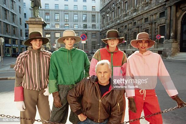 Giorgio Armani With Models