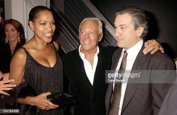 Giorgio Armani With Robert De Niro And Wife Grace Hightower The Royal Academy Of Arts Presents The Exhibition Of Giorgio Armani A Retrospective