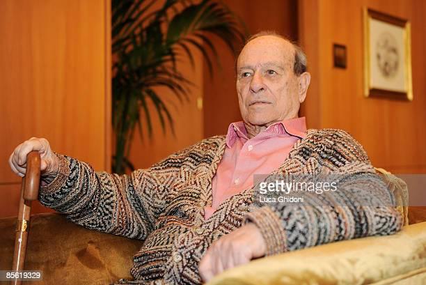 Giorgio Bocca attends the 2008 E' Giornalismo award on March 26 2009 in Milan Italy Attilio Bolzoni of 'la Repubblica' newspaper won this years award...