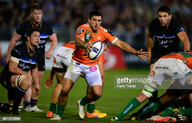 Giorgio Bronzini of Benetton Rugby during the European Rugby Champions Cup match between Bath Rugby and Benetton Rugby at Recreation Ground on...