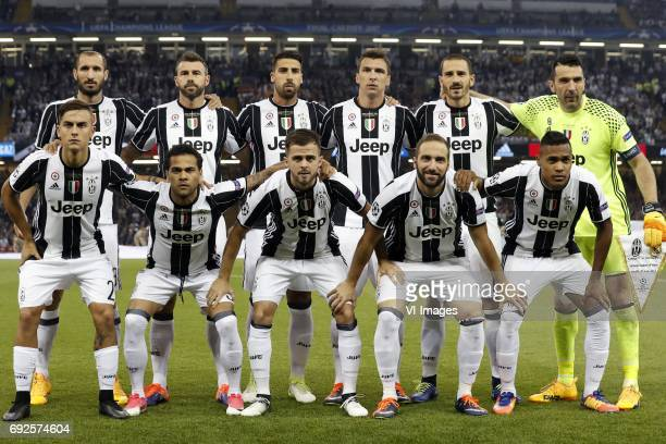 Giorgio Chellini of Juventus FC Andrea Barzagli of Juventus FC Sami Khedira of Juventus FC Mario Mandzukic of Juventus FC Leonardo Bonucci of...