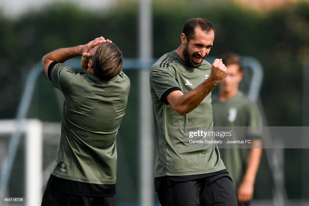 Giorgio Chiellini during a Juventus Training Session at Juventus Center Vinovo on September 26, 2017 in Vinovo, Italy.