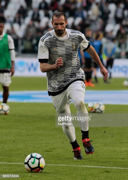 Giorgio Chiellini during Serie A match between Juventus v Atalanta in Turin on March 14 2018