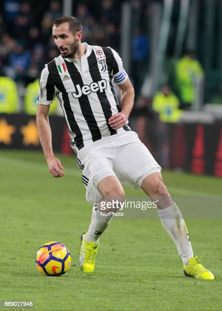 Giorgio Chiellini during the Italian Serie A football match Juventus and Internazionale on December 9 2017 at the Allianz stadium in Turin