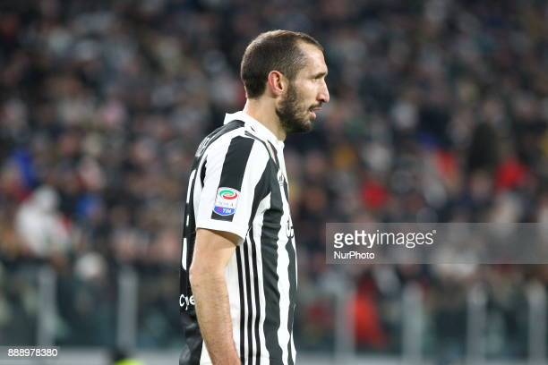 Giorgio Chiellini during the Serie A football match between Juventus FC and FC Internazionale at Allianz Stadium on 09 December 2017 in Turin Italy