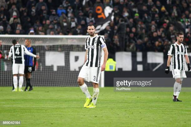 Giorgio Chiellini during the Serie A football match between Juventus FC and FC Internazionale at Allianz Stadium on 09 December 2017 in Turin Italy...