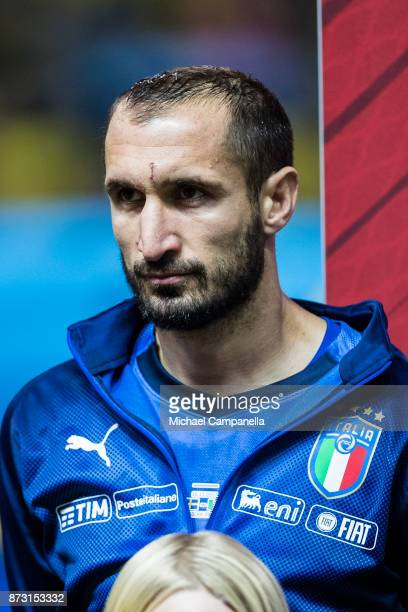 Giorgio Chiellini of Italy during the FIFA 2018 World Cup Qualifier PlayOff First Leg between Sweden and Italy at Friends arena on November 10 2017...
