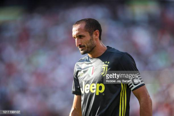 Giorgio Chiellini of Juventus during the International Champions Cup 2018 future between Real Madrid v Juventus at FedExField on August 4 2018 in...