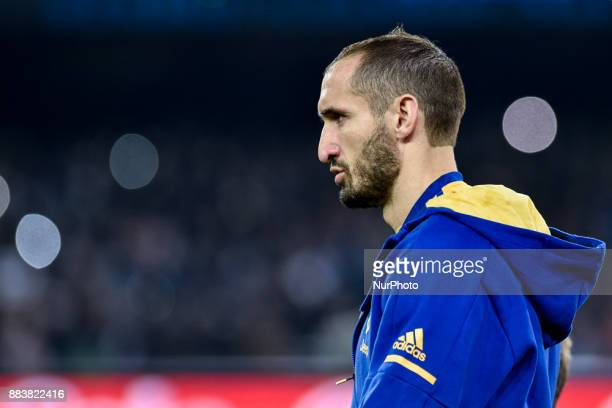 Giorgio Chiellini of Juventus during the Serie A match between Napoli and Juventus at San Paolo Stadium Naples Italy on 1 December 2017