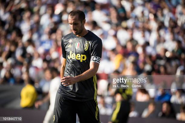 Giorgio Chiellini of Juventus during the the International Champions Cup soccer match between Juventus FC and Real Madrid CF at the FedExField on...