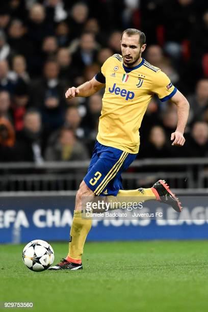 Giorgio Chiellini of Juventus during the UEFA Champions League Round of 16 Second Leg match between Tottenham Hotspur and Juventus at Wembley Stadium...