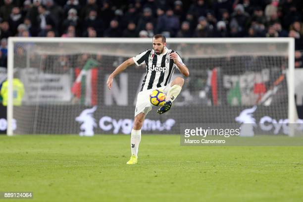 Giorgio Chiellini of Juventus FC in action during the Serie A football match between Juventus FC and Fc Internazionale The match ended in a 00 tie