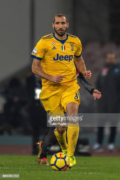 Giorgio Chiellini of Juventus in action during the Serie A match between SSC Napoli and Juventus at Stadio San Paolo on December 1 2017 in Naples...