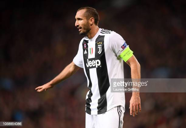 Giorgio Chiellini of Juventus looks on during the Group H match of the UEFA Champions League between Manchester United and Juventus at Old Trafford...